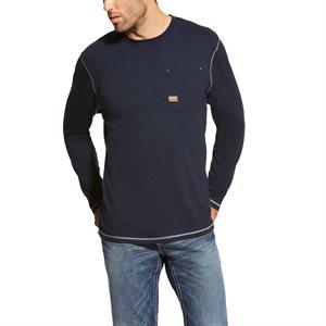 Ariat Men's ''Rebar'' Long Sleeves Work Shirt - Navy
