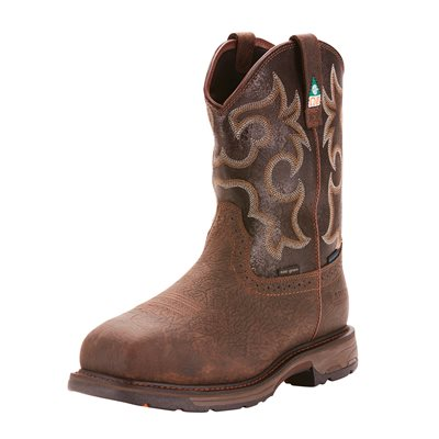 Botte Western Ariat de Travail ''Workhog CSA H2O Insulated Comp Toe'' pour Homme