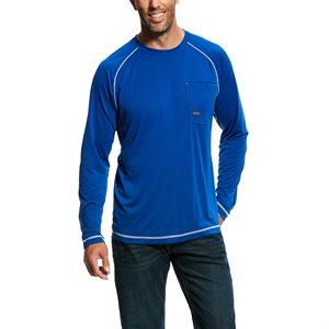 Ariat Men's ''Rebar Sunstopper'' Work Shirt - Royal Blue