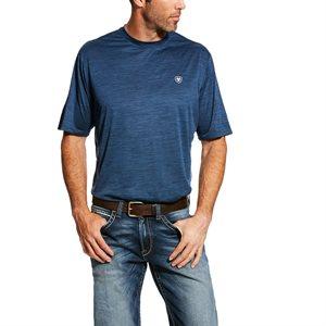 Tee-Shirt Ariat ''Charger Basic'' pour Homme - Bleu Pin
