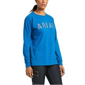 Ariat Ladies Rebar CottonStrong Block Work Shirt - Mykonos Blue