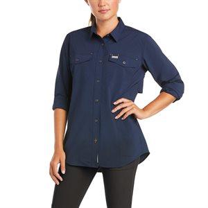 Ariat Ladies Rebar Made Tough VentTEK DuraStretch Work Shirt - Navy