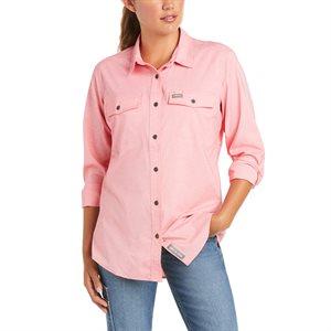 Ariat Ladies Rebar Made Tough VentTEK DuraStretch Work Shirt - Calypso Coral Heather