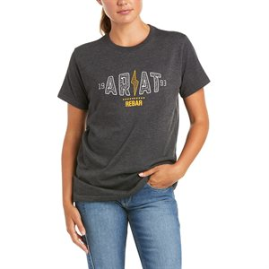 Ariat Ladies Rebar Cotton Strong Bolt Work T-Shirt - Charcoal